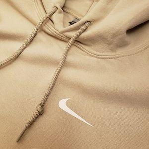 Beige Nike Swoosh Hoodie